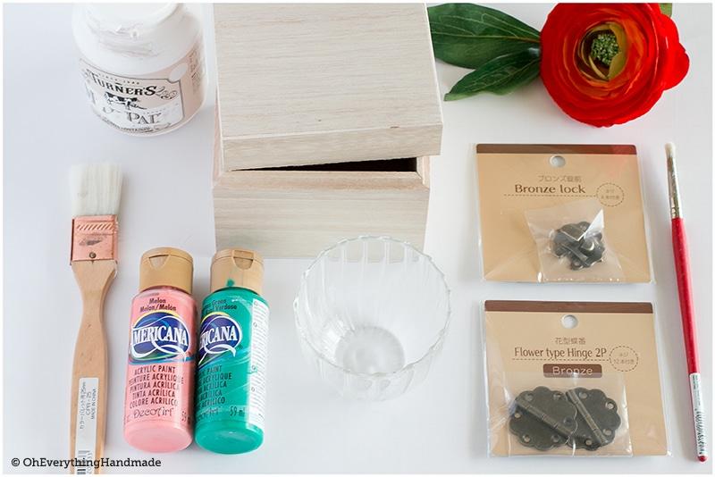 DIY Allowance box - supplies needed