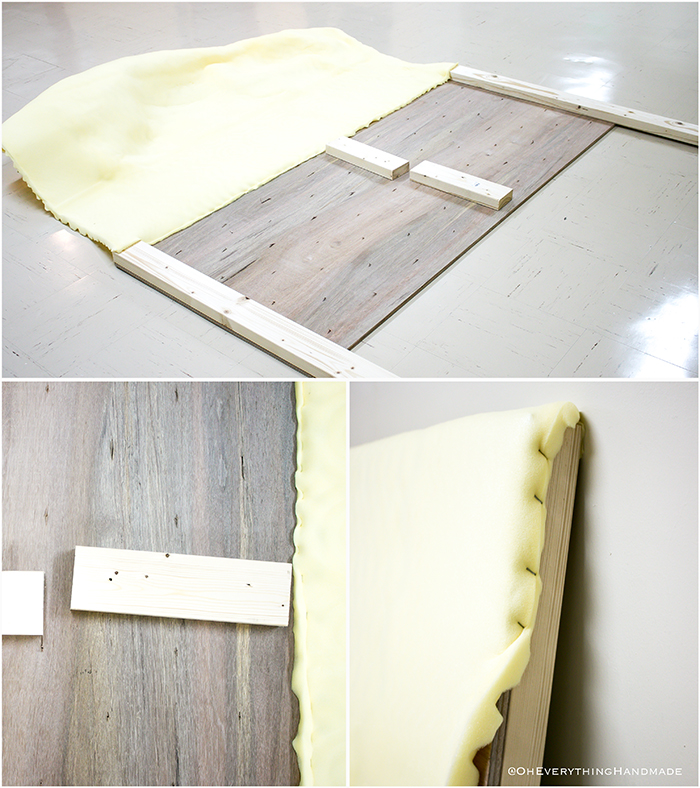 Headboard under $100 via Oheveryhinghandmade-attach the foam topper