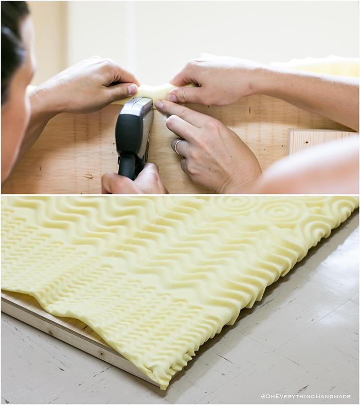 Headboard under $100 via Oheveryhinghandmade-attach the mattress topper to the headboard