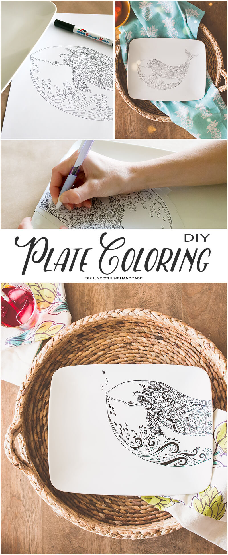 Plate coloring by OEH-Pinterest