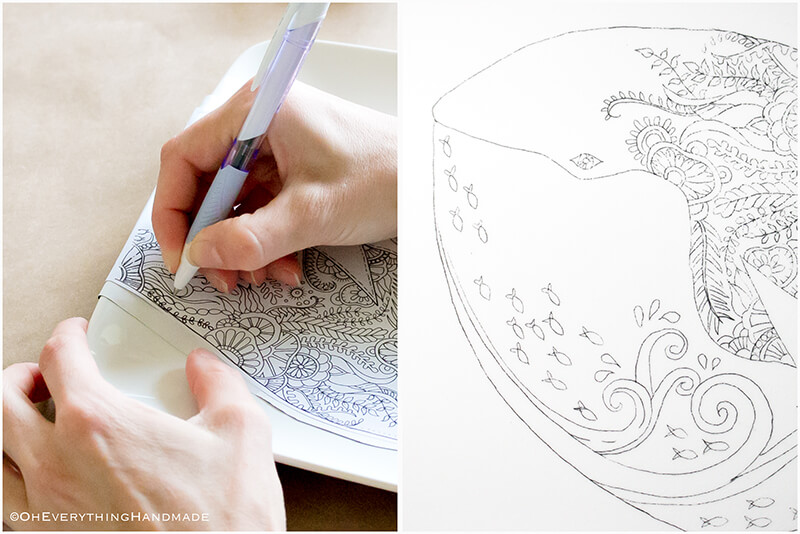 Plate coloring by OEH-Tracing