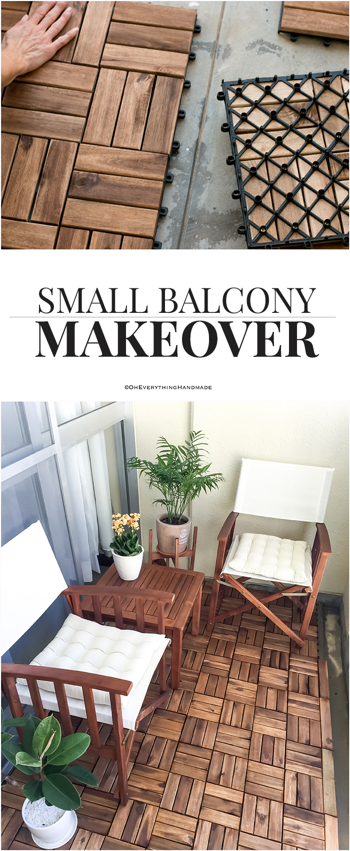 Small balcony makeover - PIN_IT- via OEH