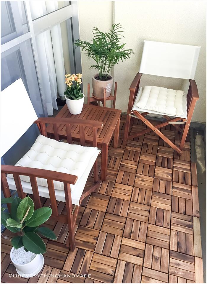 Small balcony makeover - via OEH