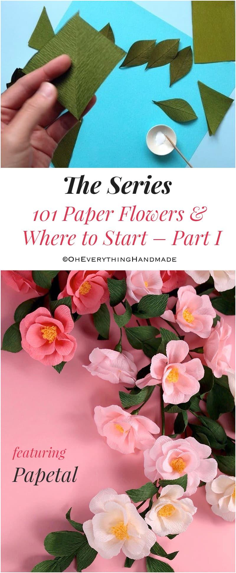 101 Paper flowers & Where to start-pinterest