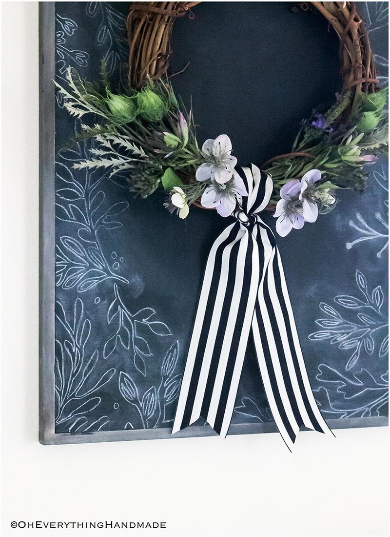 No-Glue Nigella and Protea Wildfloral wreath - Decorate3