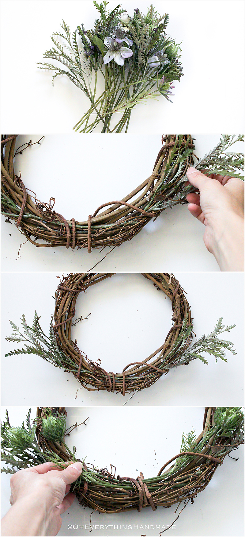 No-Glue WildFlower wreath