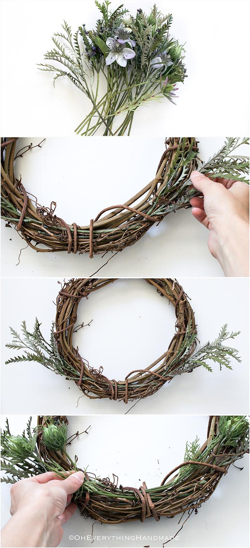 No-Glue WildFlower wreath
