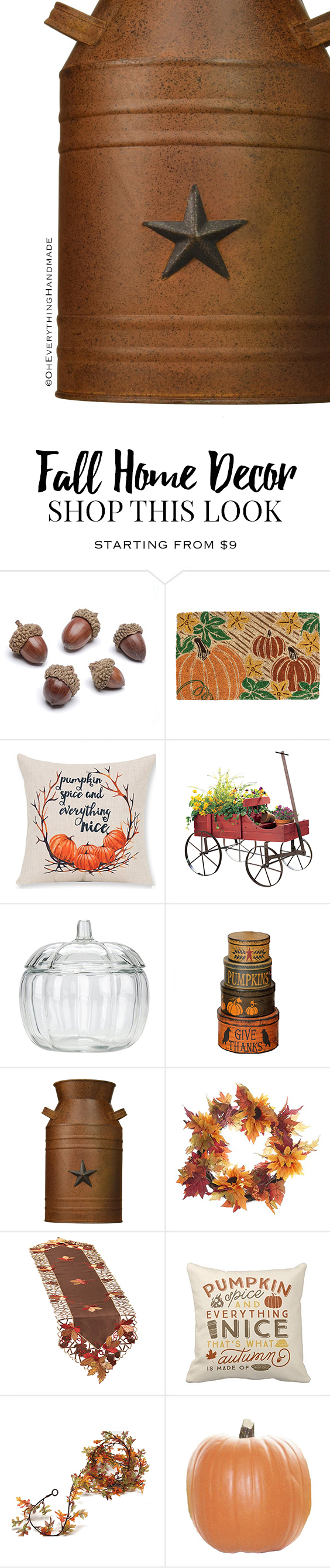 Fall home decor finds oh everything handmade Pinterest everything home decor