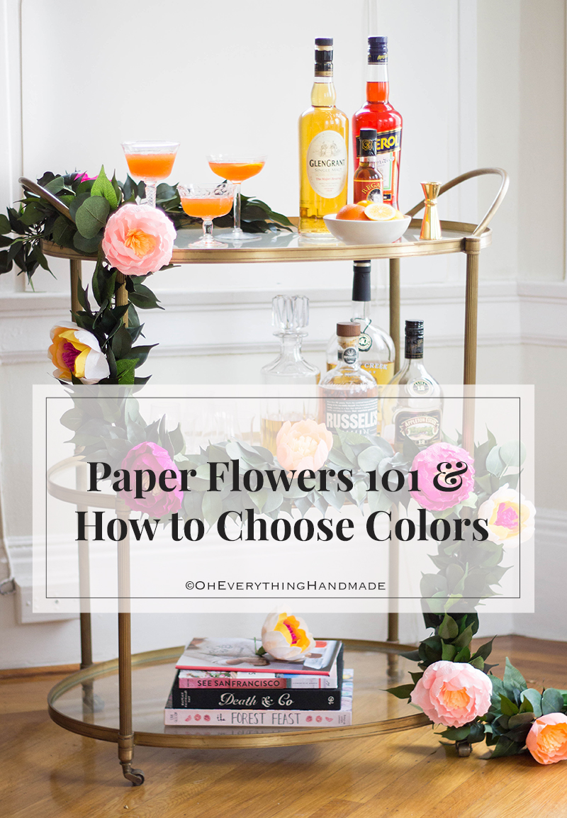 Paper Flowers & How to choose Colors