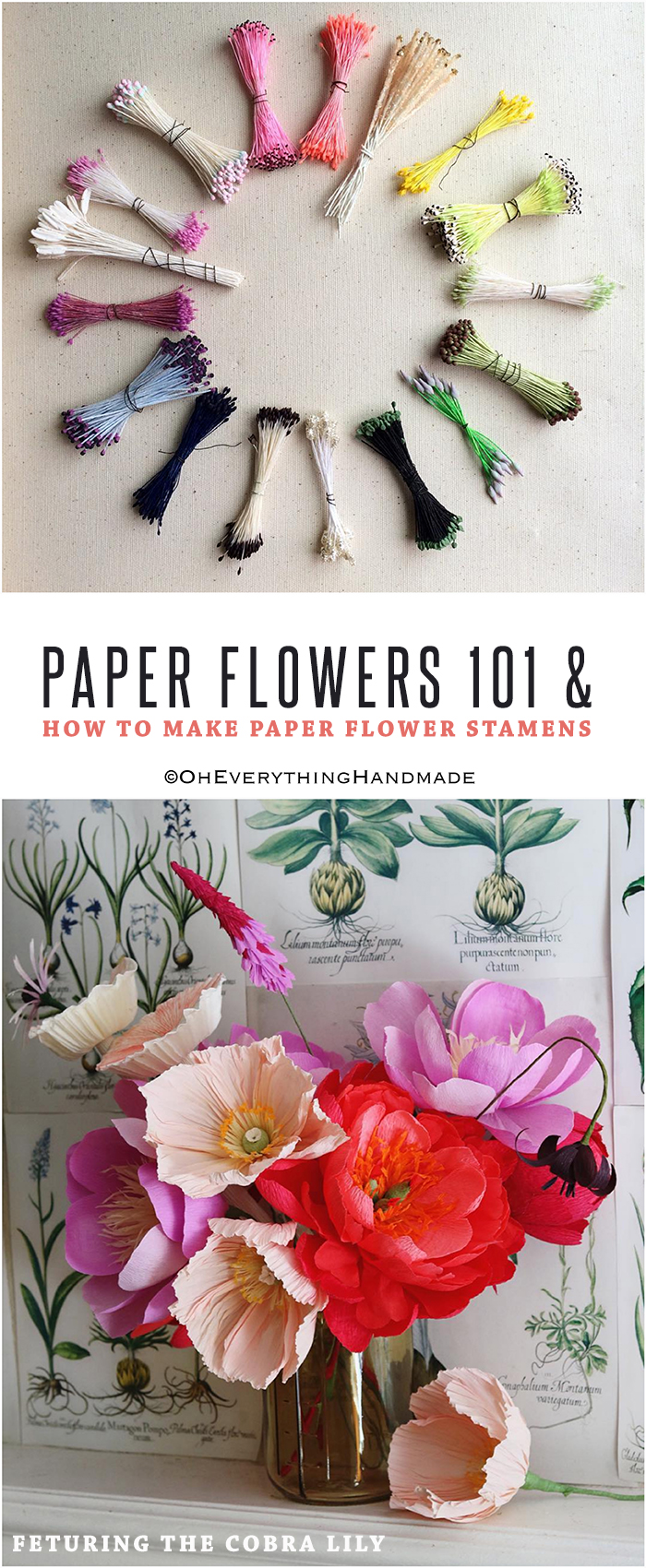 Paper Flowers 101 How To Make Paper Flower Stamens Oheverything