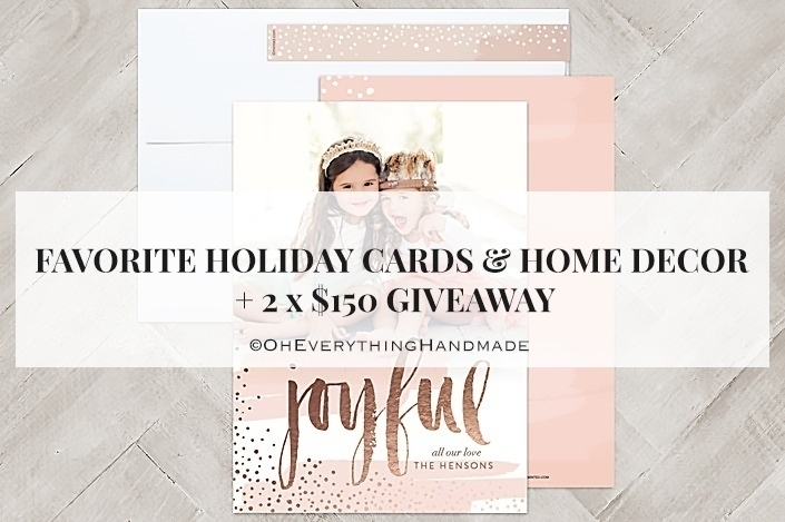 Home Decor Giveaway barnett bulletin the barnett home decor blog Favorite Holiday Cards Home Decor 2x 150 Minted Giveaway