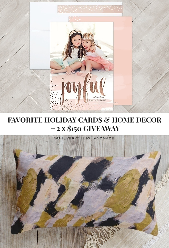 Favorite Holiday Cards & Home Decor + 2X $150 Minted Giveaway