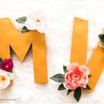 Monograms M & V