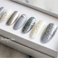 Gray Glam Nails4