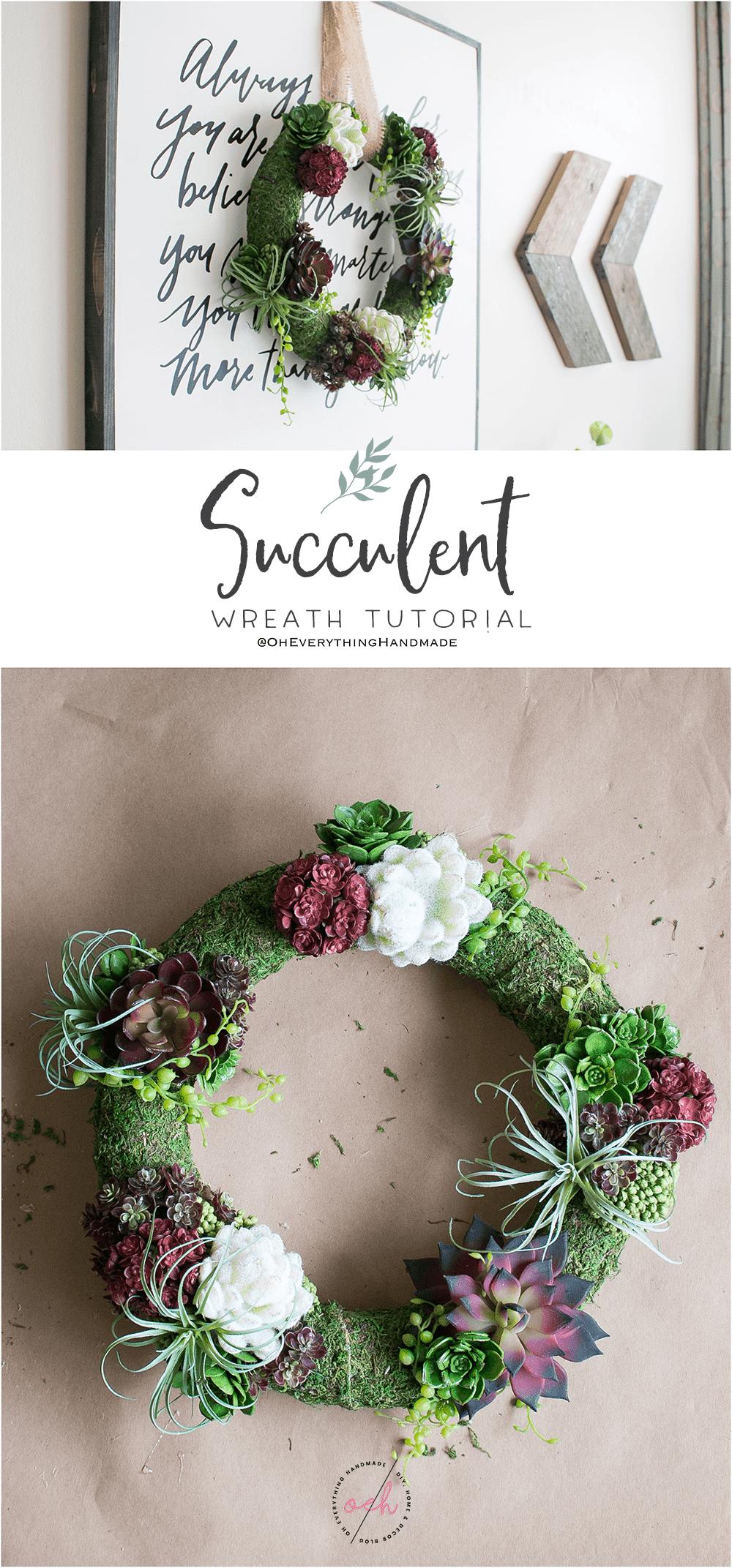 Succulent Wreath DIY - Pinterest