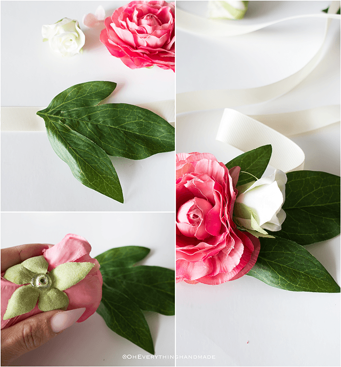 Floral Hair Band - step by step