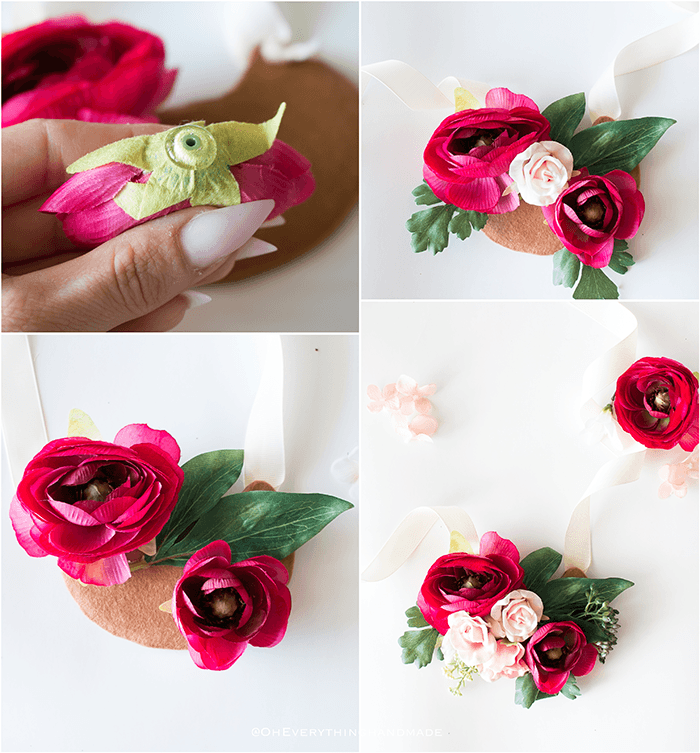 Floral Necklace - step by step - part 2